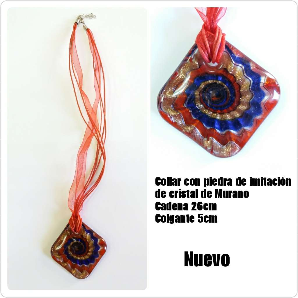Imagen Collar con imitación de cristal de Murano 26cm