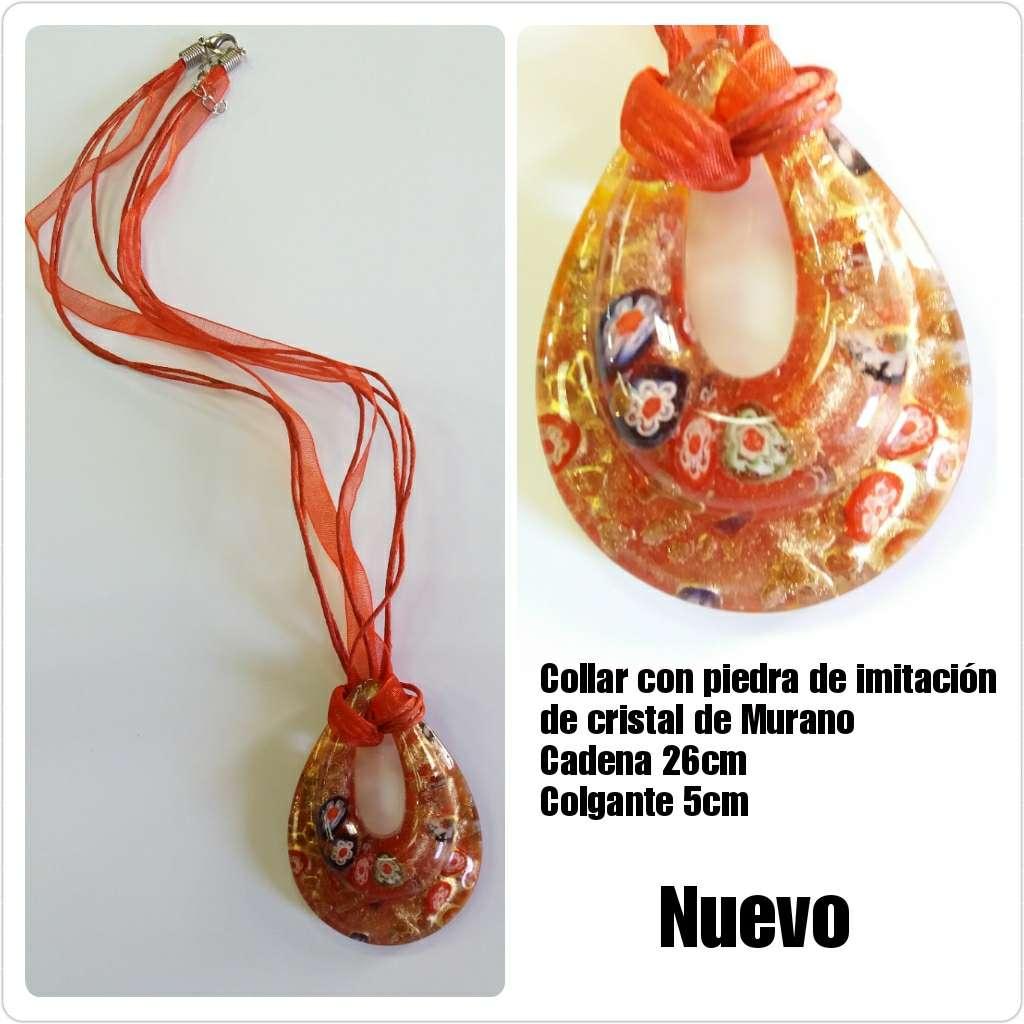 Imagen Collar rojo imitación de cristal de Murano 26cm