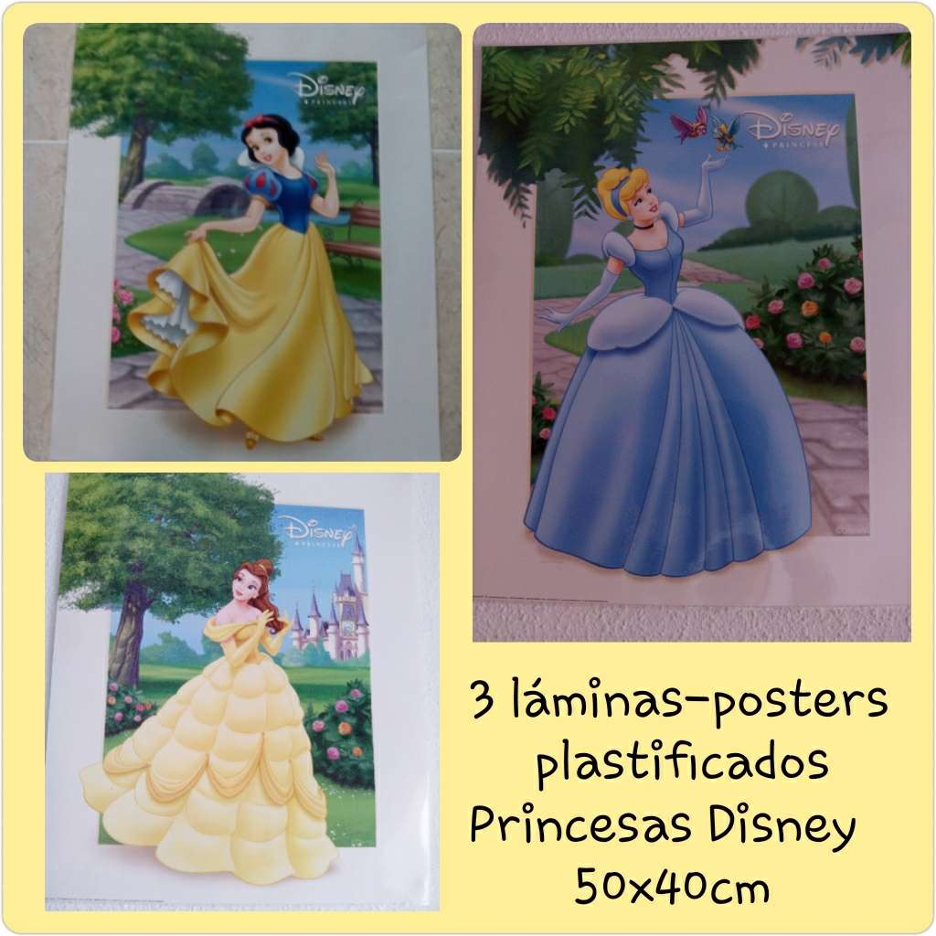 Imagen 3 láminas planificadas princesas Disney 50x40cm