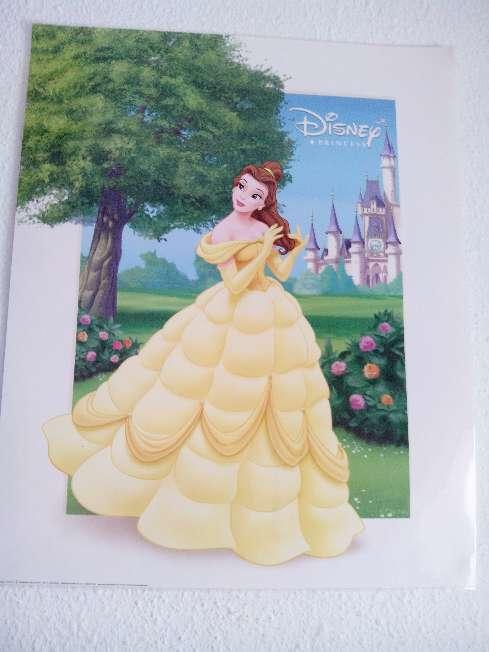 Imagen producto 3 láminas planificadas princesas Disney 50x40cm  2
