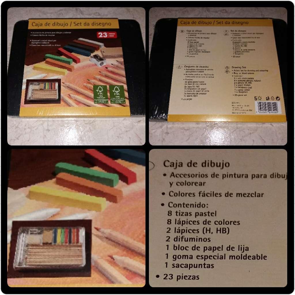 Imagen producto Caja de dibujo con 23 piezas sin estrenar. 1