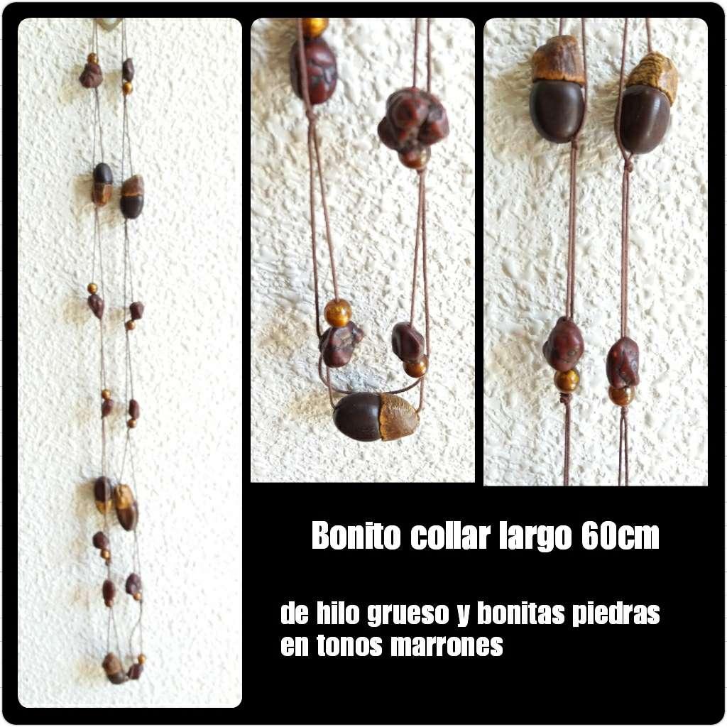 Imagen Collar marrón largo de 60cm.