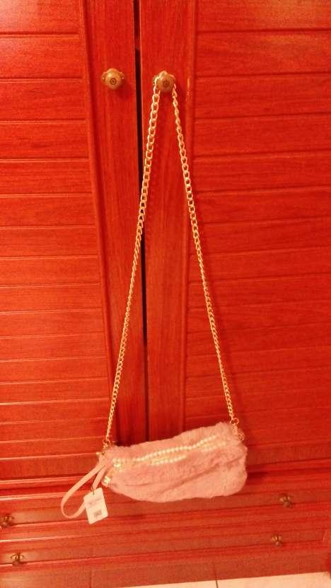 Imagen Bolso de terciopelo rosado