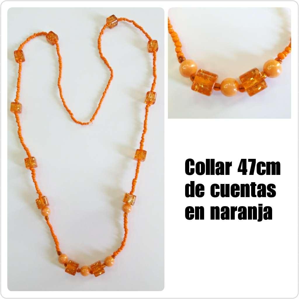 Imagen Collar de 47cm de cuentas naranjas