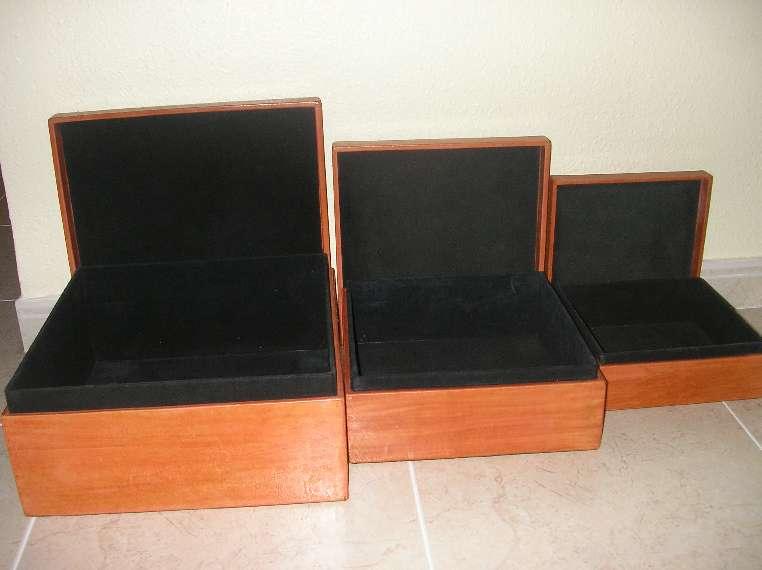 Imagen producto 3 cajas de piel naranja + portafotos 2