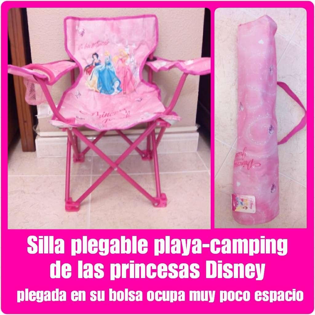 Imagen Silla plegable playa camping Princesas Disney