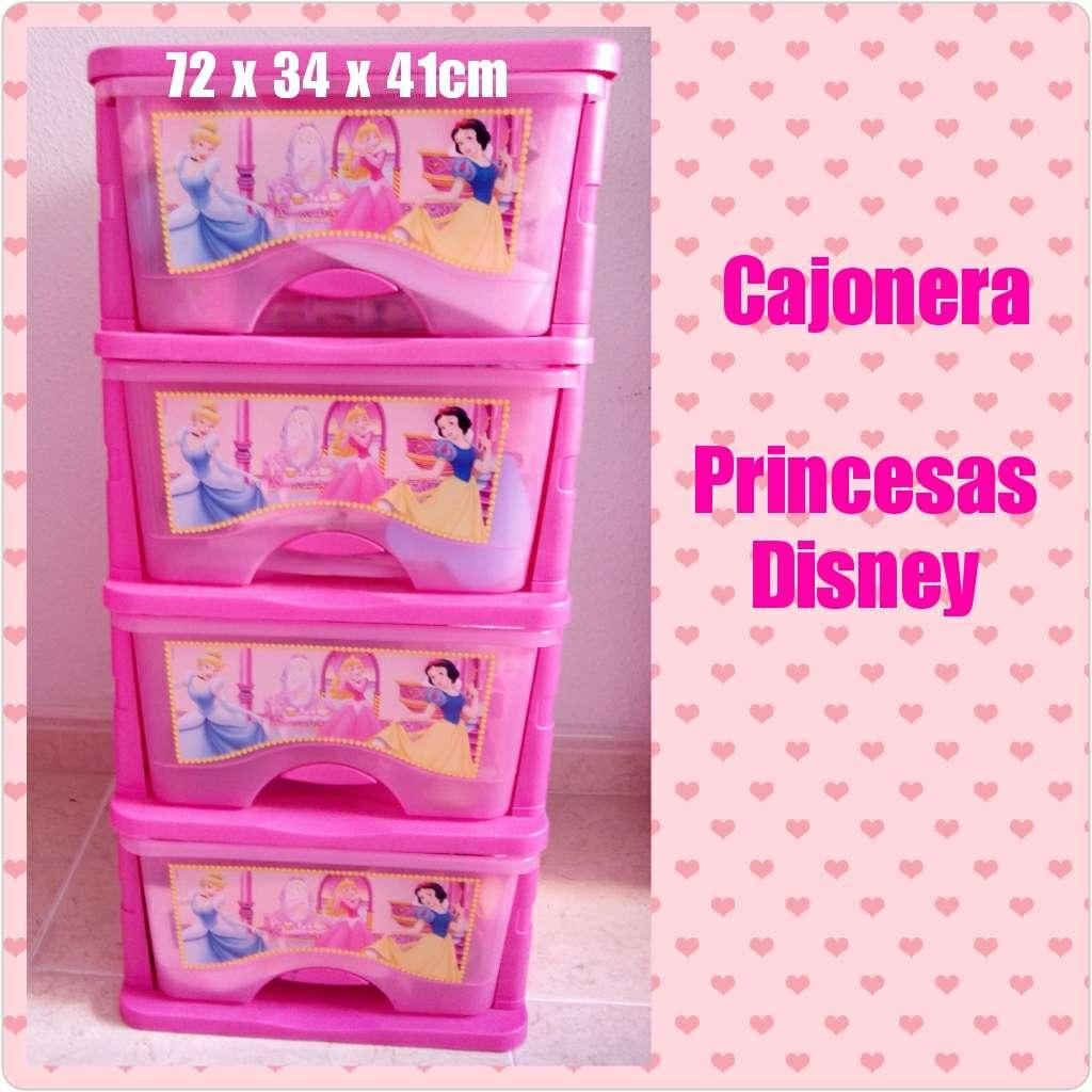 Imagen Cajonera de 4 pisos Princesas Disney
