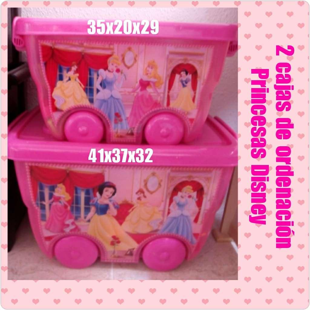 Imagen 2 cajas de ordenación Princesas Disney
