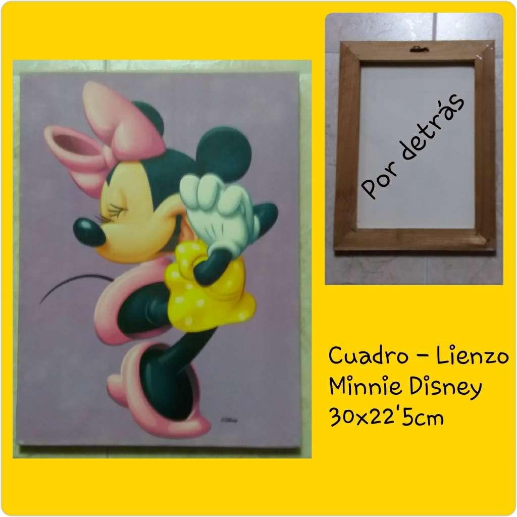 Imagen Cuadro lienzo Minnie Disney Mide 30x22'5cm.