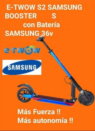 Imagen Patinete eléctrico E-twow S2 Samsung Booster S+ 500w a 630€ IVA inc.