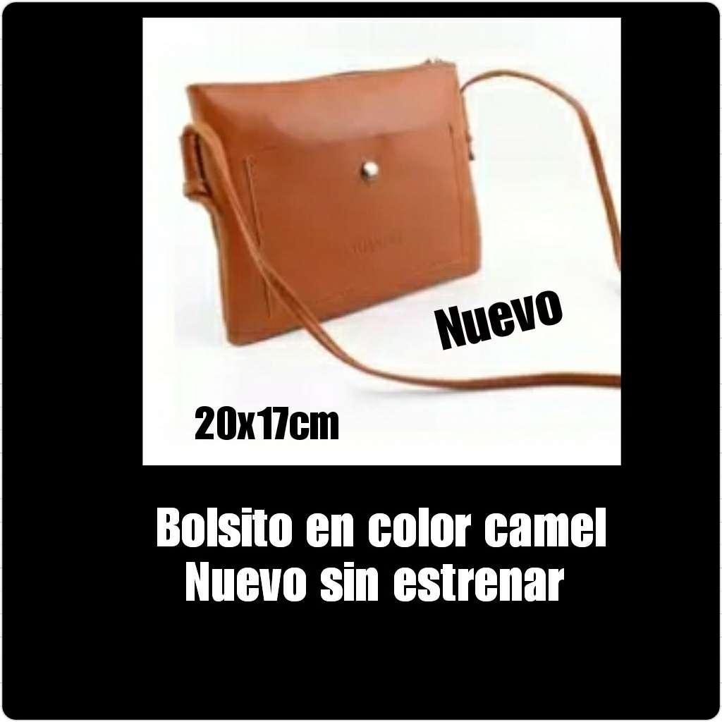 Imagen Bolso en color camel, nueno, sin estrenar 20x17cm.