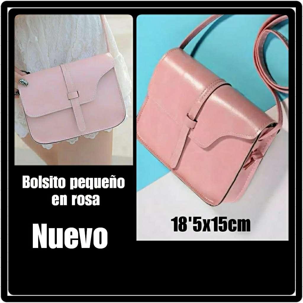 Imagen Bolso en rosa. Nuevo. 18'5x15cm.