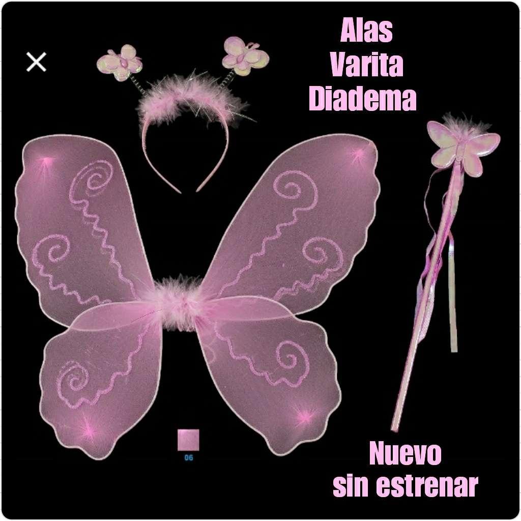 Imagen Para Disfraz de Hada: Alas, varita y diadema. Nuevo.