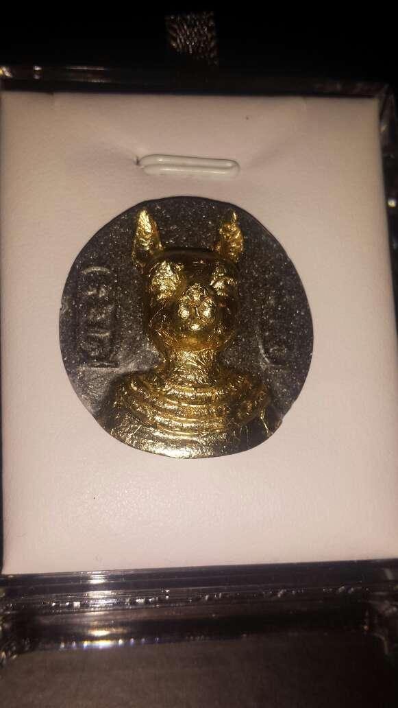 Imagen moneda polvo meteorito bastet