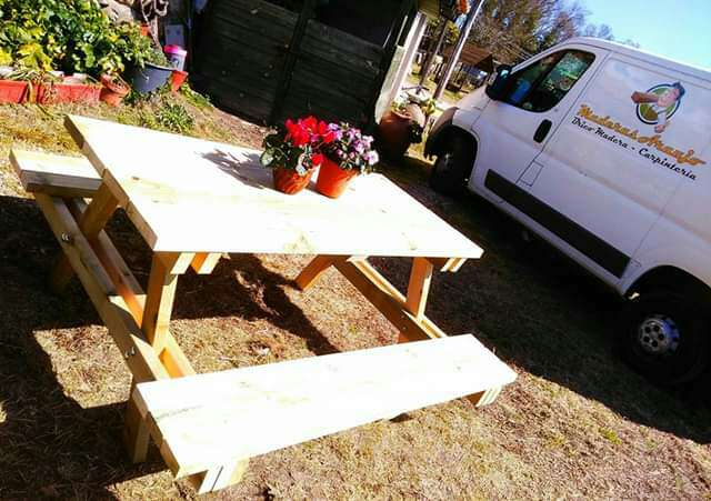 Imagen Mesa picnic Modelo 8P de madera tratada para exterior