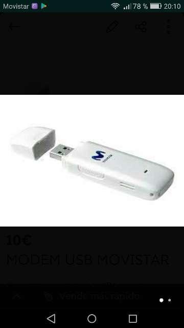Imagen Módem USB MOVISTAR libre.