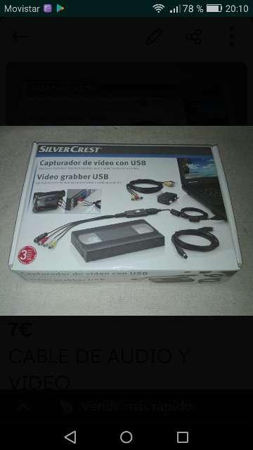 Imagen Cables de audio y video de capturadora.