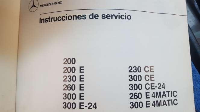 Imagen producto Manual de mercedes 300 4