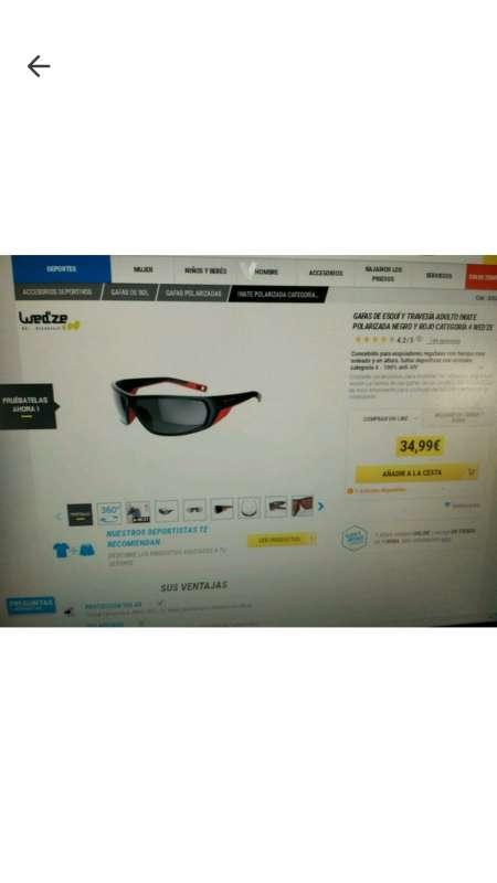 Imagen producto Gafas de deporte 4