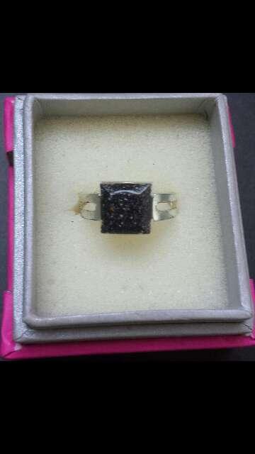 Imagen producto Meteorito polvo cuadrado anillo  1