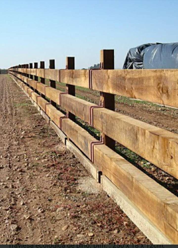 Imagen producto Traviesas de tren primera de roble, tradicionales limpias cepilladas y ecologicas para decoración de interior y exterior de jardín y vallado 7