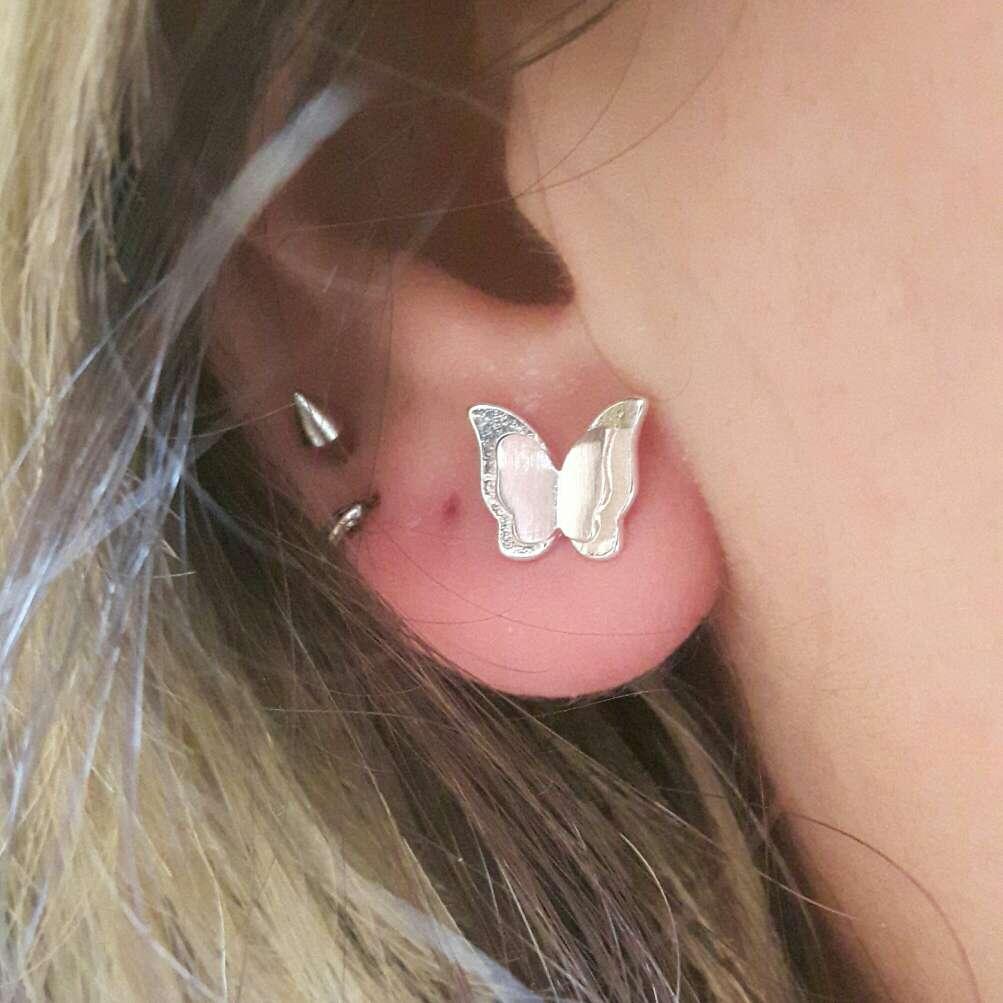 Imagen Pendientes de plata mariposa
