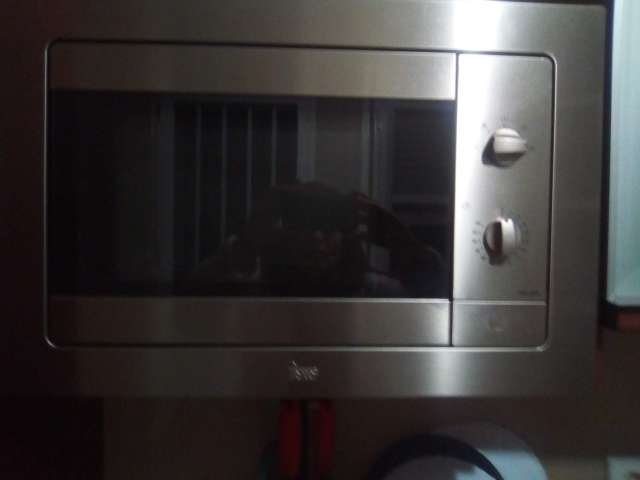 Imagen microondas cromado gris