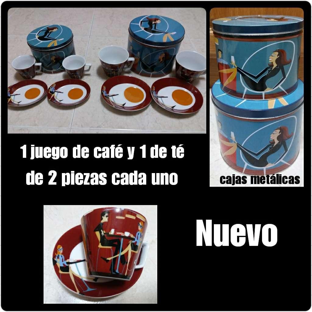Imagen Juego de café + juego de té de 2 servicios c/u. Nuevos.