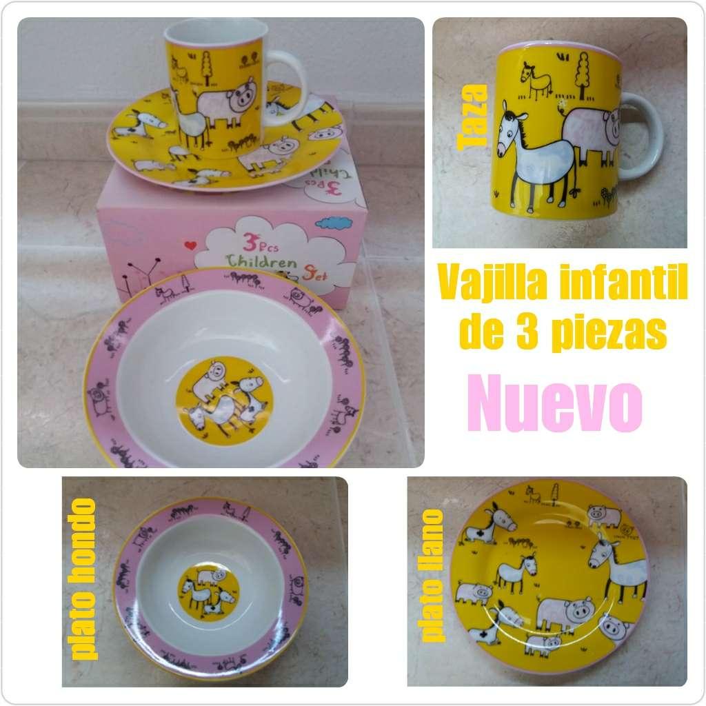 Imagen Vajilla de porcelana infantil 3 piezas. Nueva.