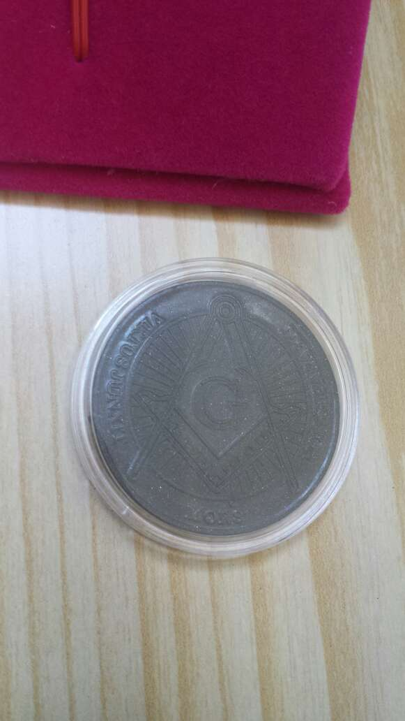 Imagen producto Moneda polvo de meteorito Masonica 9