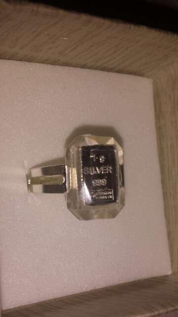 Imagen producto Anillo lingote de plata pura 999 7