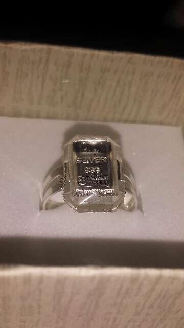 Imagen producto Anillo lingote de plata pura 999 10