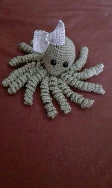 Imagen pulpo de crochet para bebe