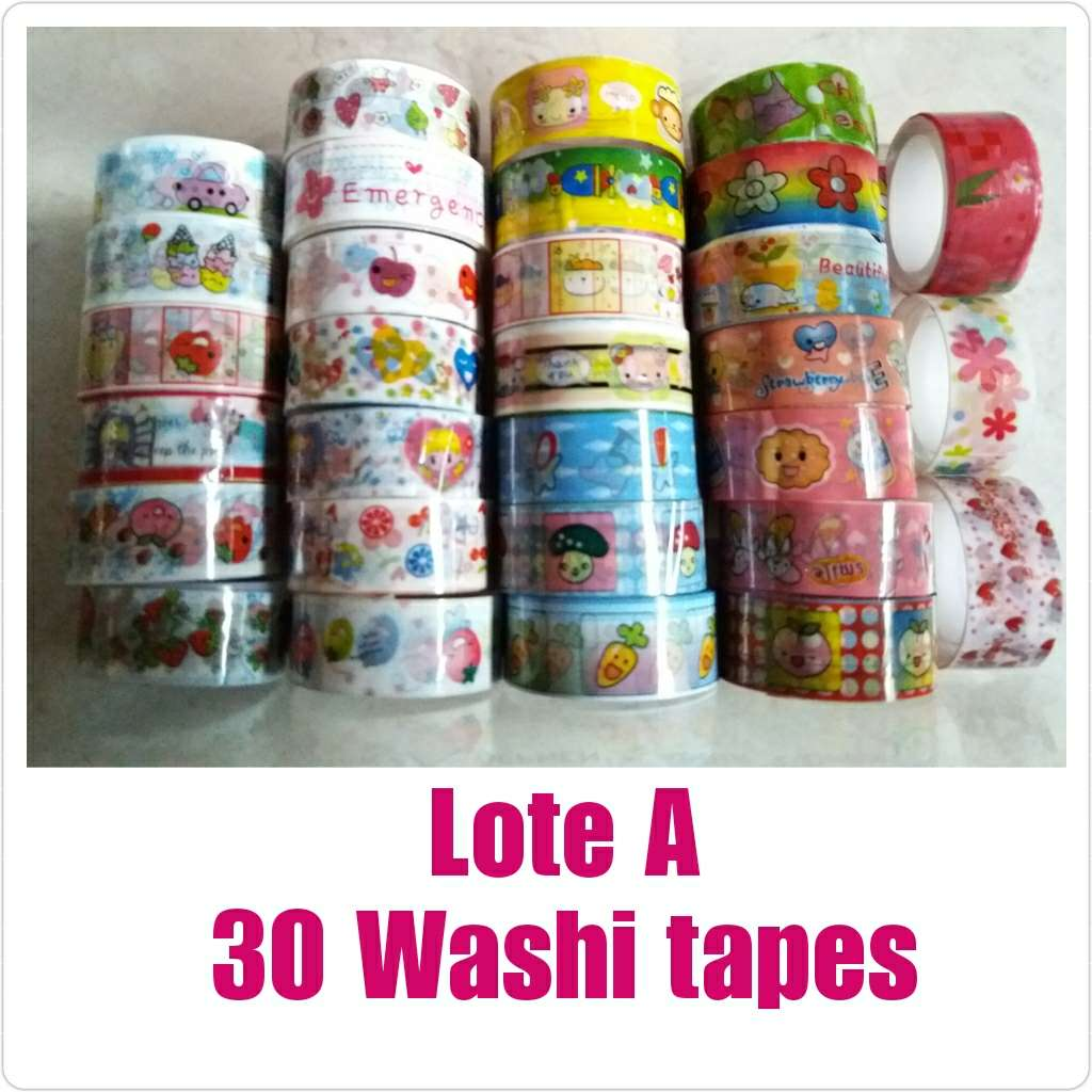Imagen Lote de 30 washi tapes nuevos.