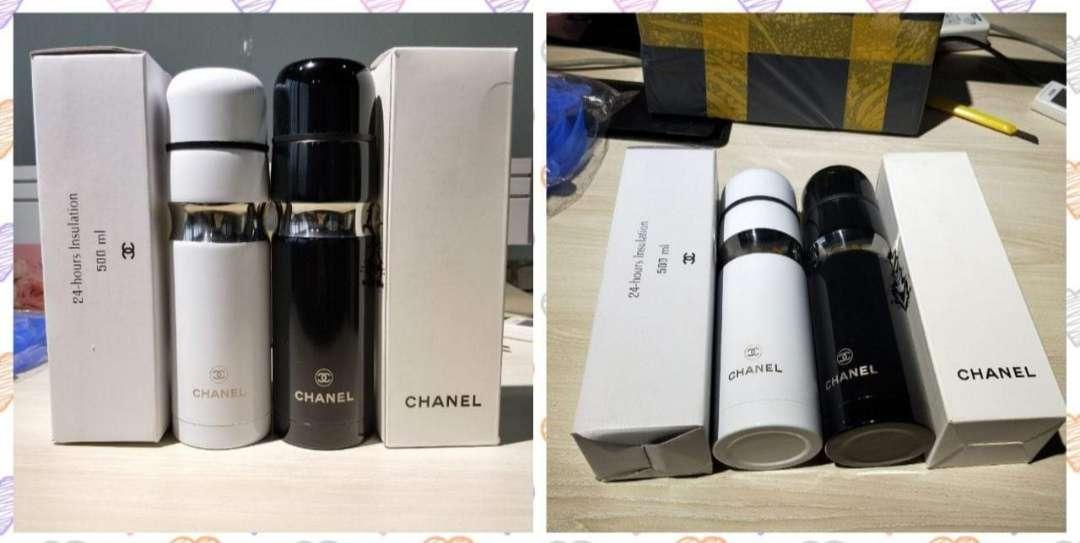 Imagen producto Termo Chanel nuevo a estrenar para bebidas frias y calientes, hielo, sopas, café, purés, termos infantiles, leche, alimentos. 4