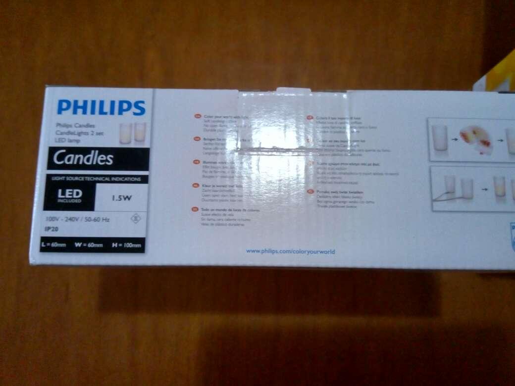 Imagen producto Lote de velas led de batería Philips. 8