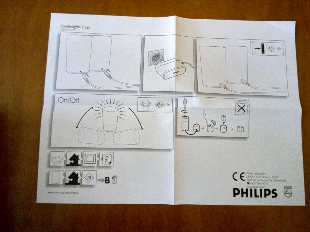 Imagen producto Lote de velas led de batería Philips. 9