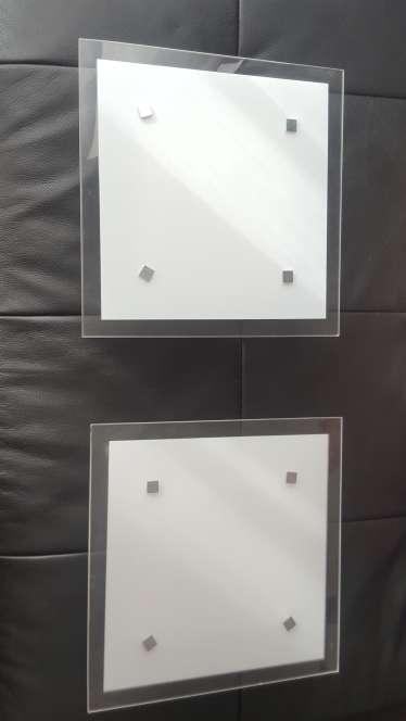 Imagen producto Dos plafones de cristal 2