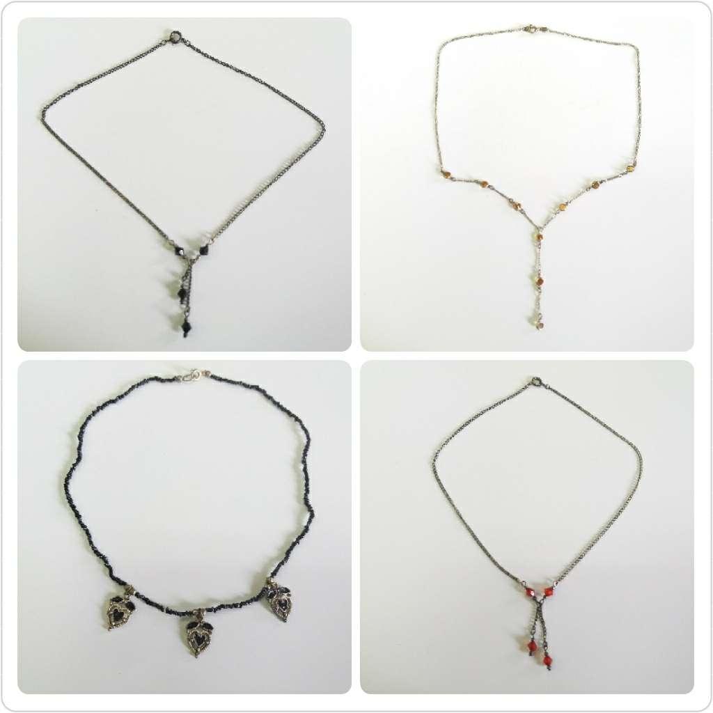 Imagen producto 4 collares plata de 18 y 20cm 3