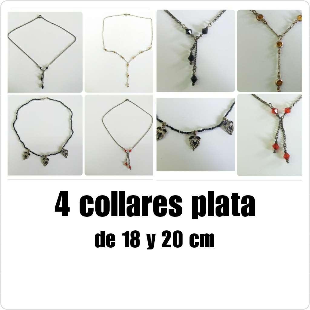 Imagen 4 collares plata de 18 y 20cm