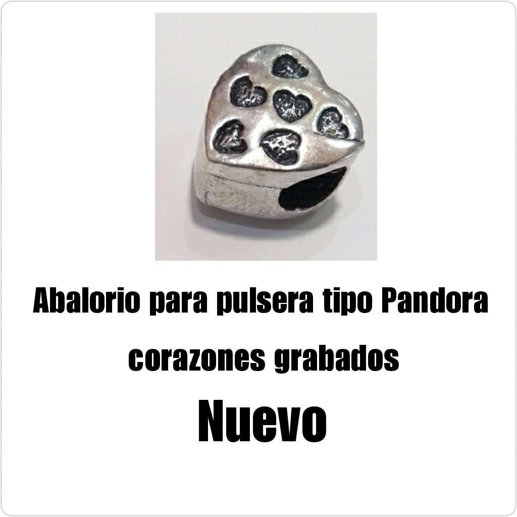 Imagen Abalorio tipo Pandora corazones... Nuevo.