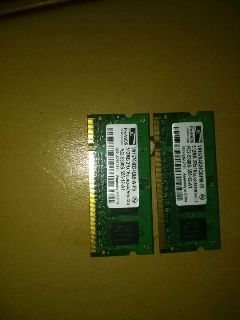 Imagen memorias RAM para portátil