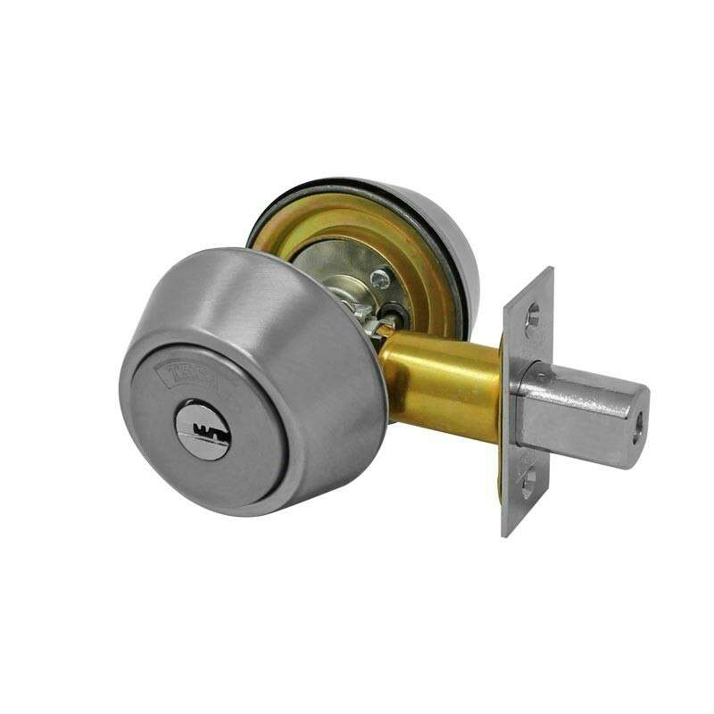 Imagen producto Cerrojo de doble cilindro niquel satinado X547 Tesa 1