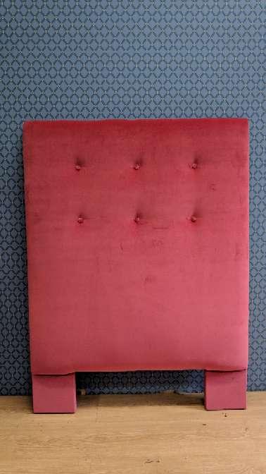 Imagen Cabecero de 90 NUEVO terciopelo rosa/rojizo