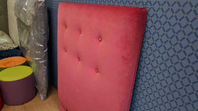 Imagen producto Cabecero de 90 NUEVO terciopelo rosa/rojizo 4