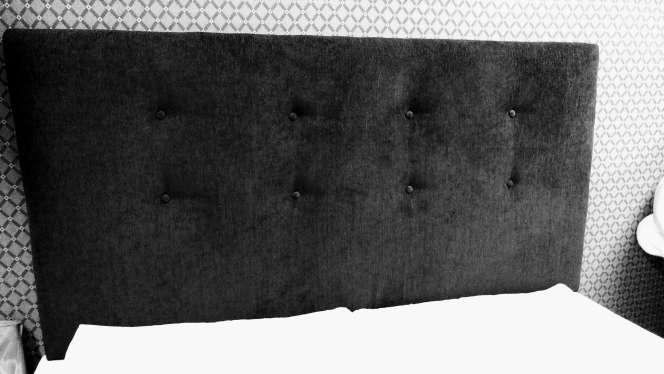 Imagen Cabecero de 1,60 NUEVO chenilla negra algodón