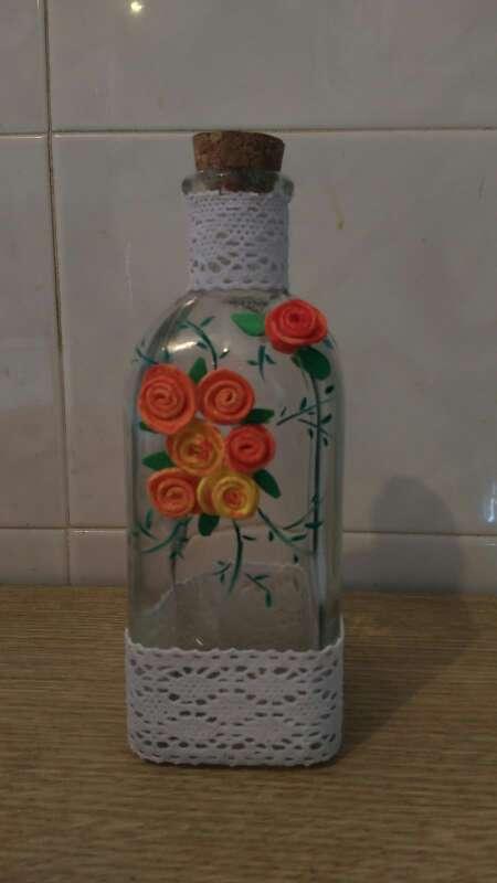 Imagen botella decorada