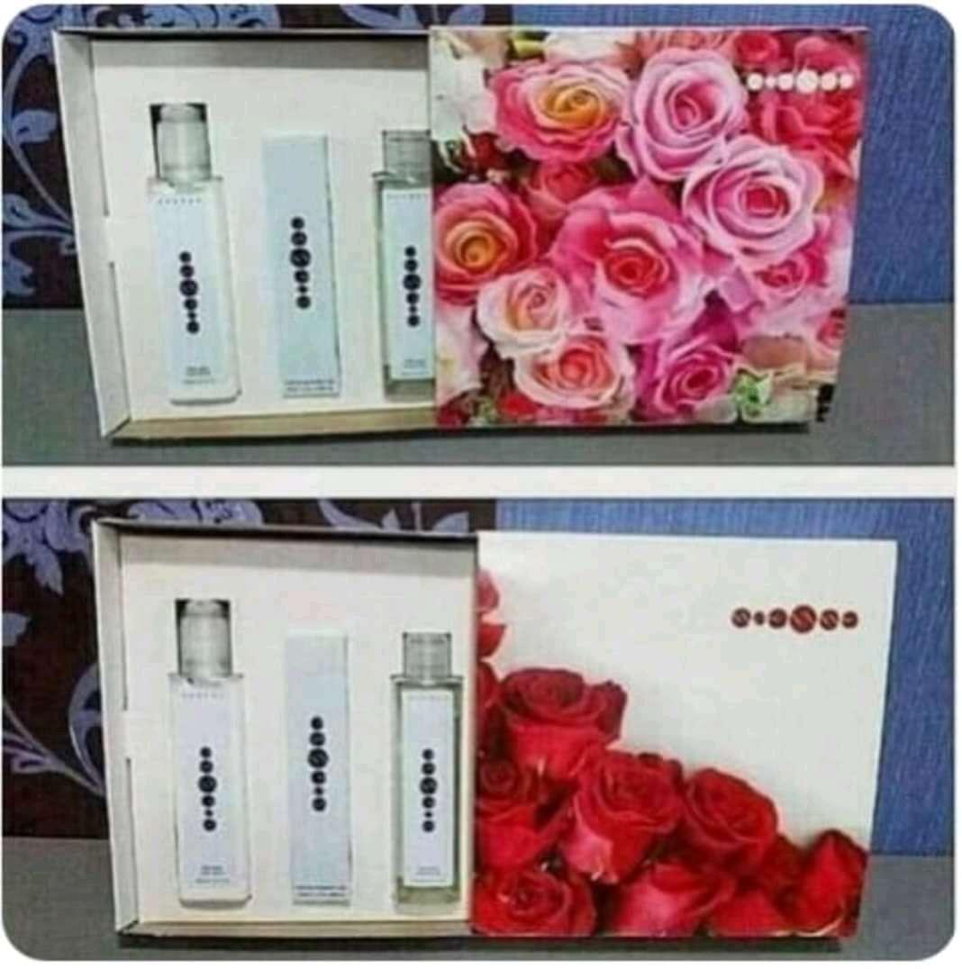 Imagen producto Pack perfume mujer 50ml +gel+crema corporal esencias originales, no copia ni imitación  2
