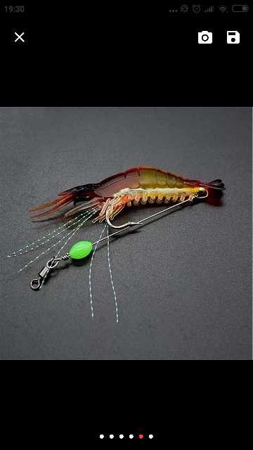 Imagen producto Señuelo artificial camarón/quisquilla 5