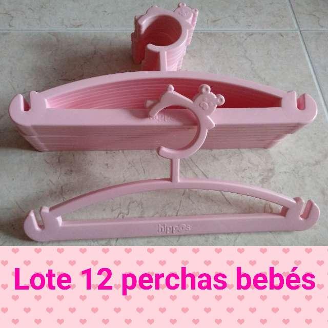 Imagen Lote de 12 perchas rosas de bebé